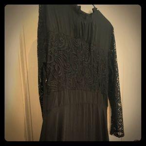 Dresses & Skirts - Long Black Lace Sleeved Dress